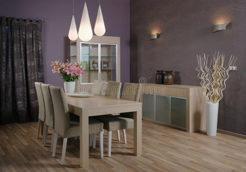 Conception intérieure de salle de séjour élégante et de luxe. images stock
