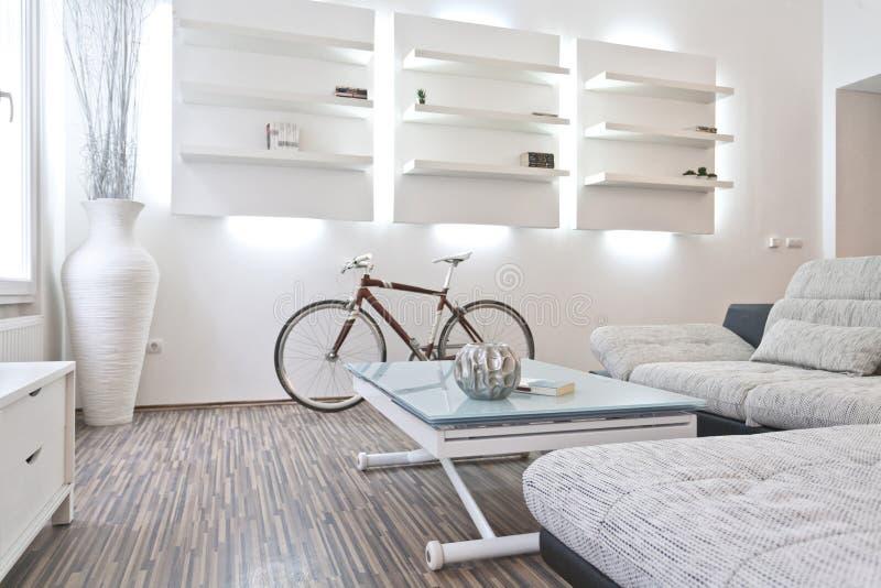 Conception intérieure de salle de séjour images libres de droits