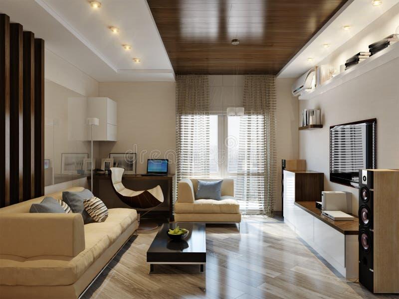 Conception intérieure de salle de séjour moderne photo stock