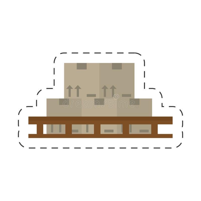 conception jalonnée par boîtes de bande dessinée illustration de vecteur