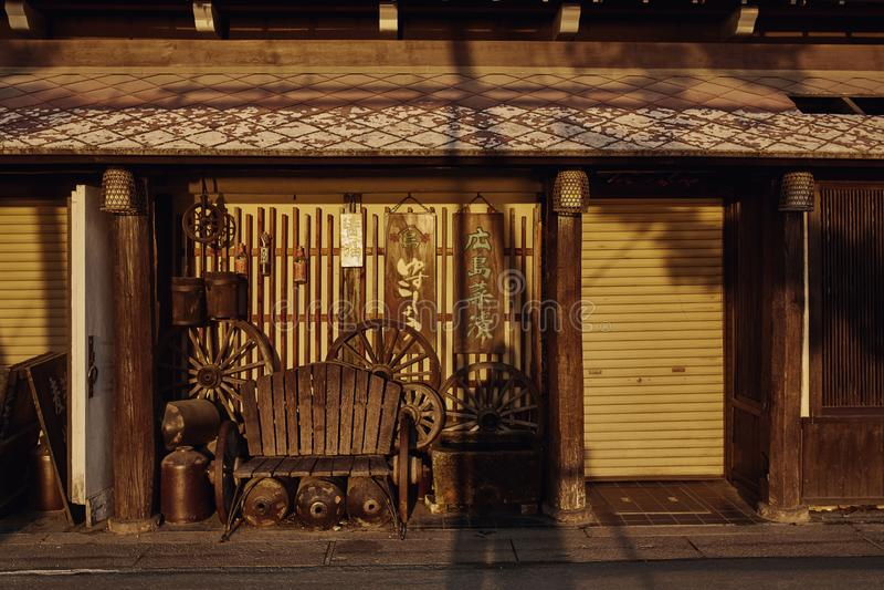 Conception japonaise traditionnelle à Miyajima, Japon image libre de droits