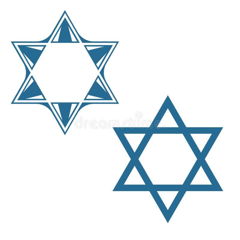 Conception juive de symbole de vecteur d'étoile d'étoile de David illustration de vecteur