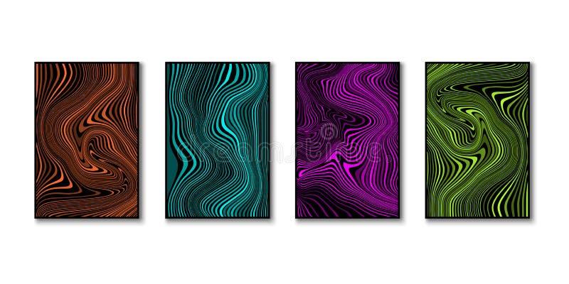 Conception liquide de couverture de peinture de couleur abstraite Dirigez les calibres de bannière, d'affiche ou de couverture de illustration libre de droits