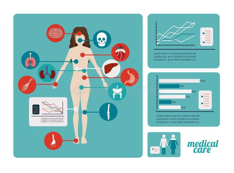 Conception médicale illustration stock
