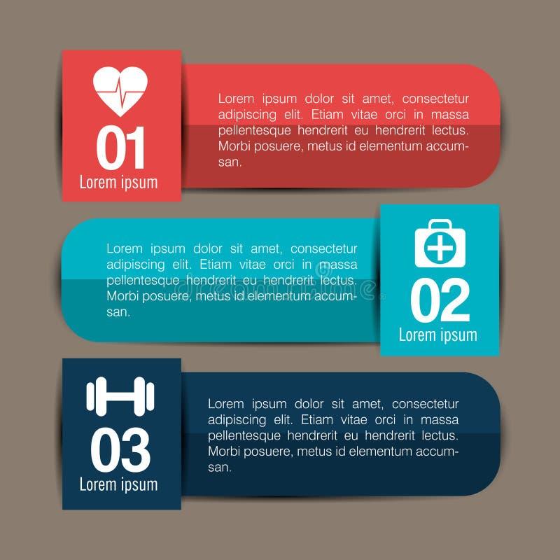 conception médicale d'infographics illustration de vecteur