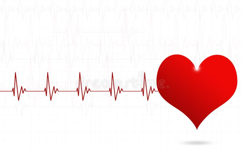 Conception médicale de battement de coeur illustration de vecteur