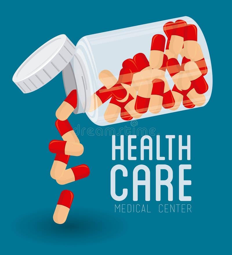 Conception médicale, illustration de vecteur illustration libre de droits