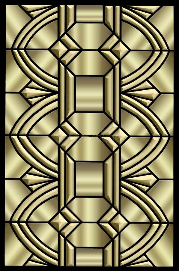 Conception métallique d'art déco illustration de vecteur
