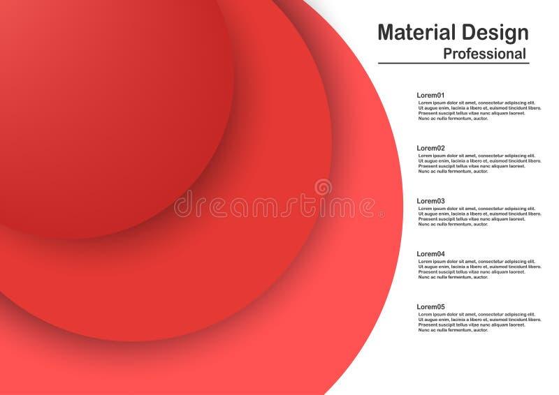 Conception matérielle moderne abstraite dans le ton rouge illustration de vecteur