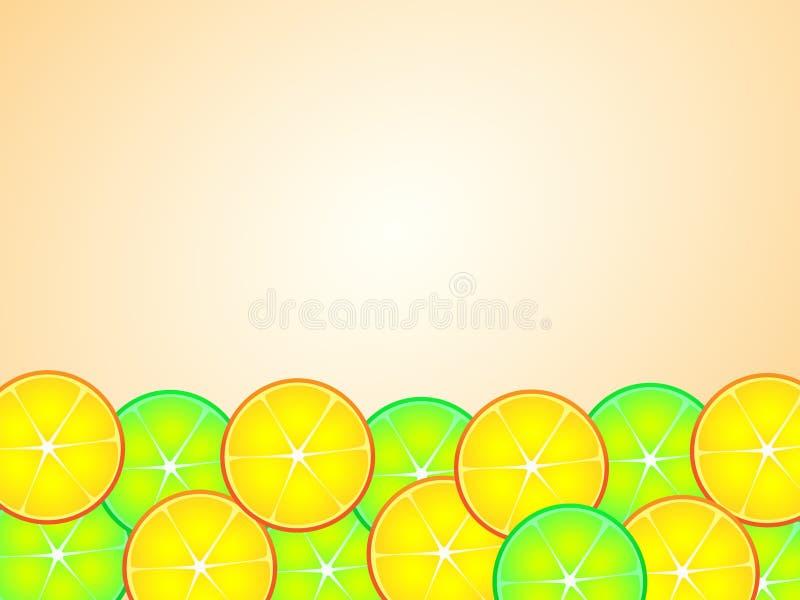 Conception merveilleuse de fond d'agrume illustration libre de droits