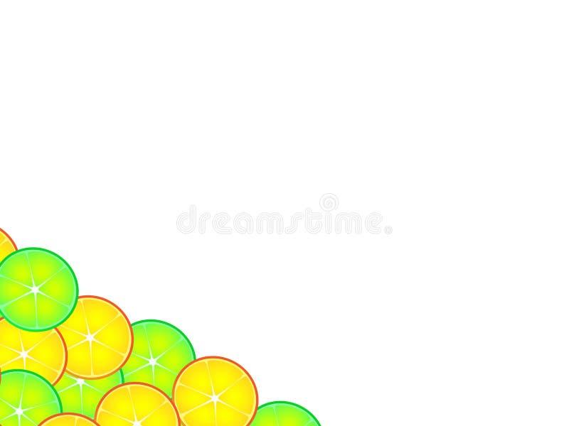 Conception merveilleuse de fond d'agrume illustration stock
