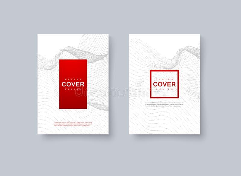 Conception minimale abstraite de couverture illustration de vecteur