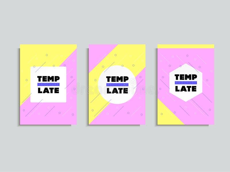 Conception minimale de couvertures Couvertures avec la conception minimale Geometri frais illustration libre de droits