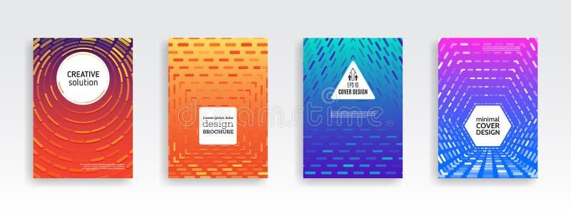 Conception minimale de couvertures Gradients tramés colorés illustration de vecteur