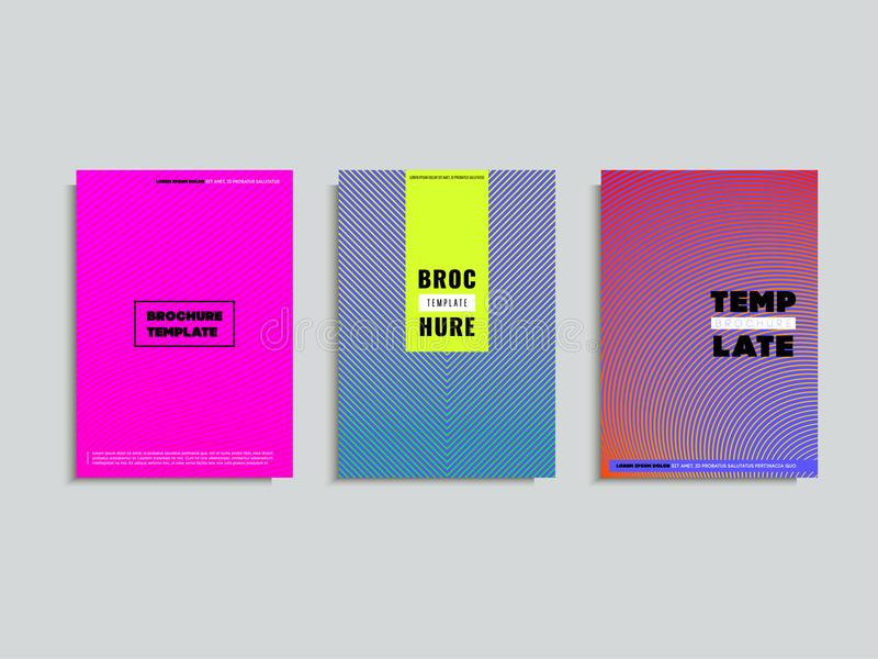 Conception minimale de couvertures Gradients tramés colorés Futur geome illustration stock
