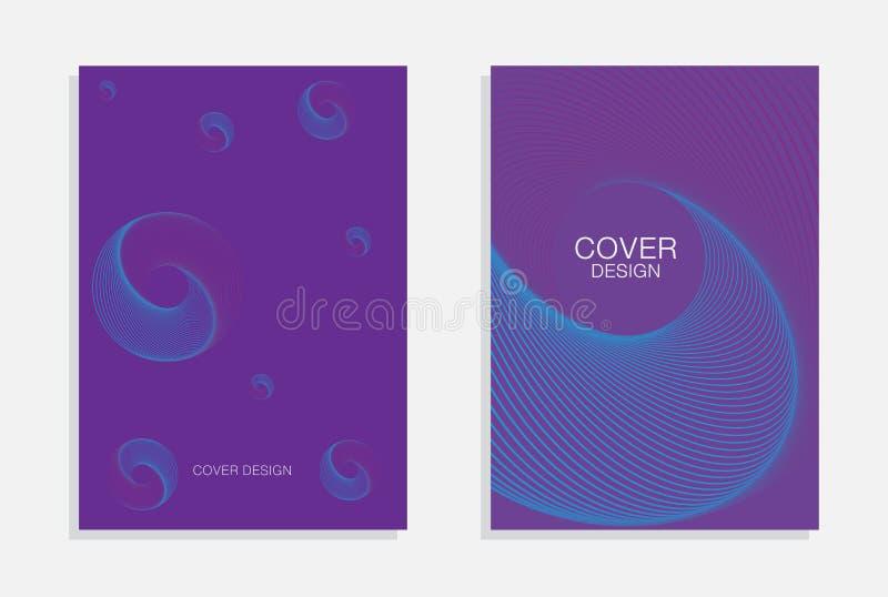 Conception minimale de couvertures Un ensemble de milieux abstraits modernes illustration de vecteur
