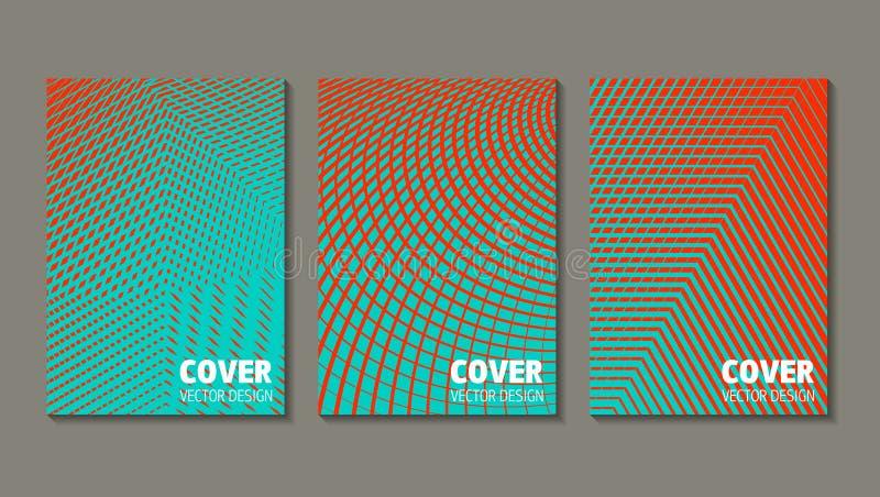 Conception minimale de couvertures de vecteur Gradients tramés frais future illustration libre de droits