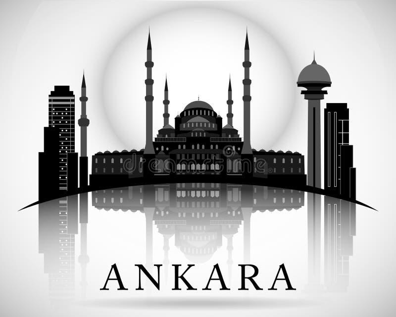 Conception moderne d'horizon de ville d'Ankara La Turquie illustration stock