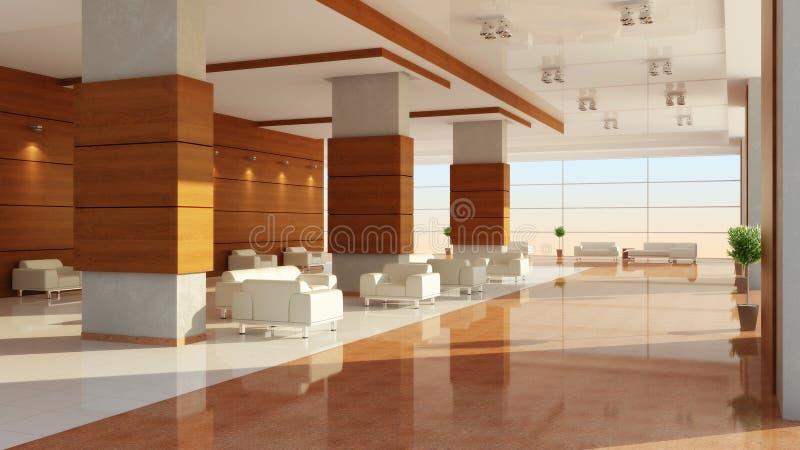 Conception moderne d'un intérieur d'un hall illustration de vecteur
