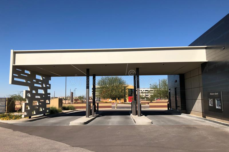 Conception moderne d'une banque en Gilbert Arizona photo stock