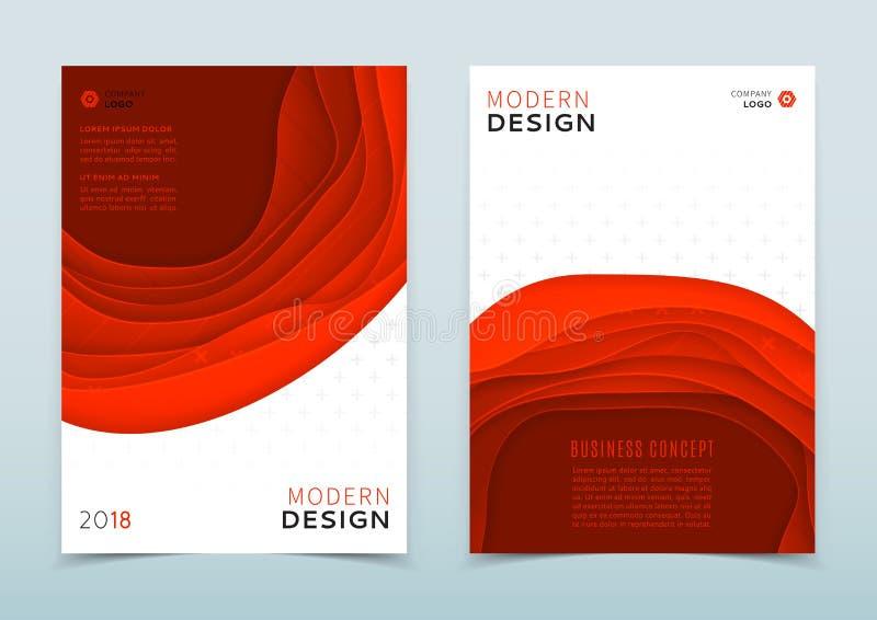 Conception moderne de brochure d'affaires illustration de vecteur