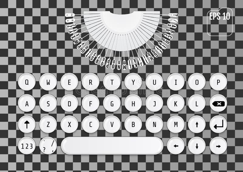 Conception moderne de clavier Rétro concept à la mode illustration libre de droits