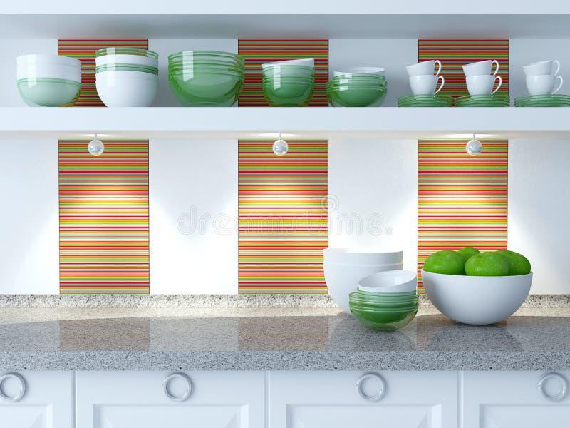 Conception moderne de cuisine illustration stock