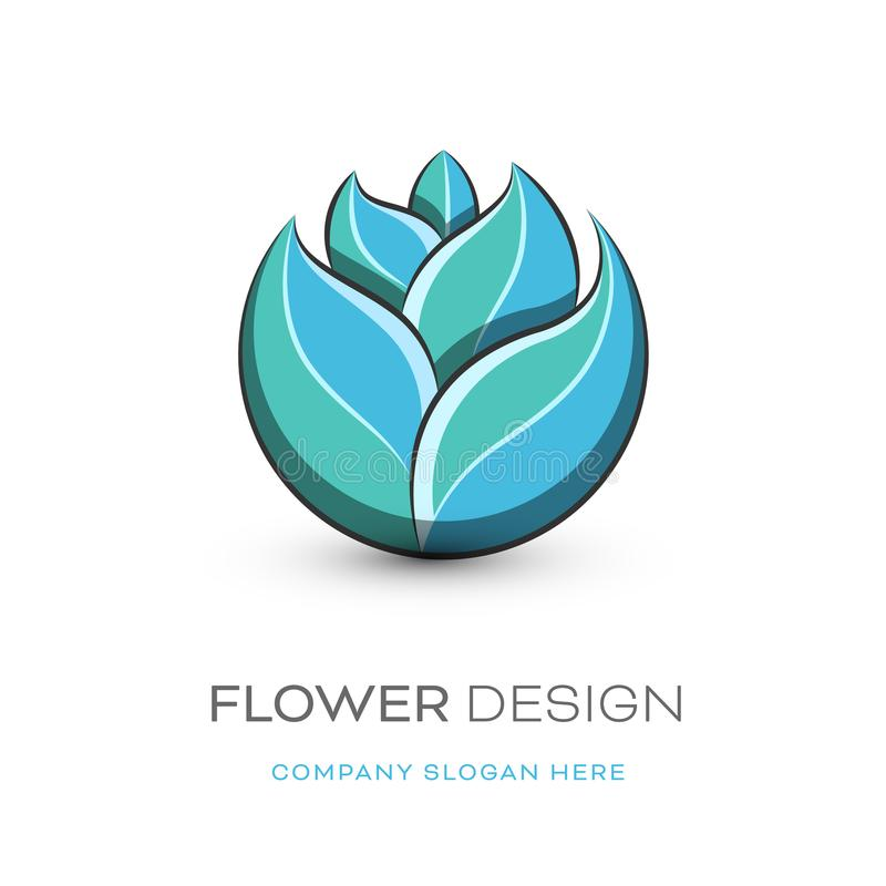 Conception moderne de logo de fleuriste illustration libre de droits