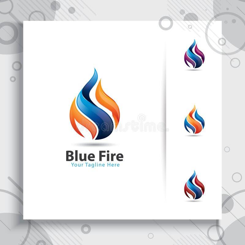 conception moderne de vecteur du logo 3d avec le concept coloré de style, illust illustration de vecteur