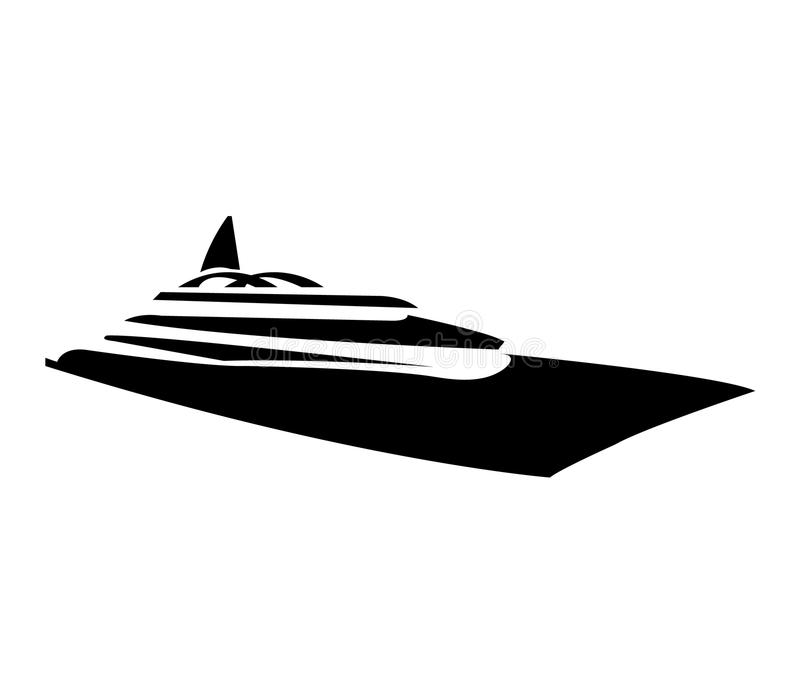 Conception moderne de yacht illustration stock