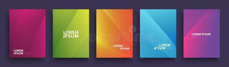 Conception moderne simple de calibre de couvertures Ensemble de gradients tramés géométriques minimaux pour la présentation, maga illustration libre de droits