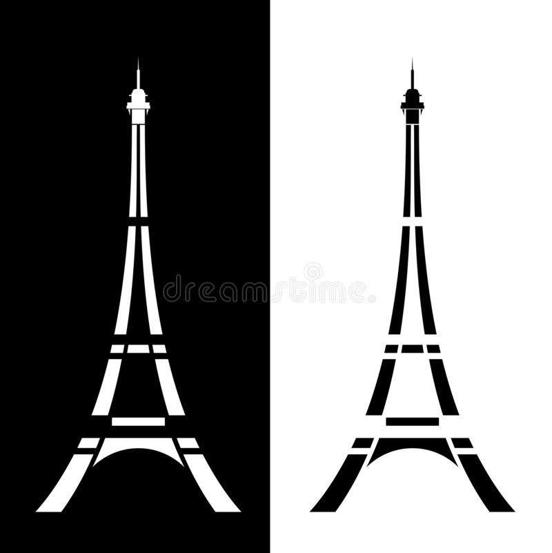 Conception moderne simple de vecteur de Tour Eiffel illustration stock