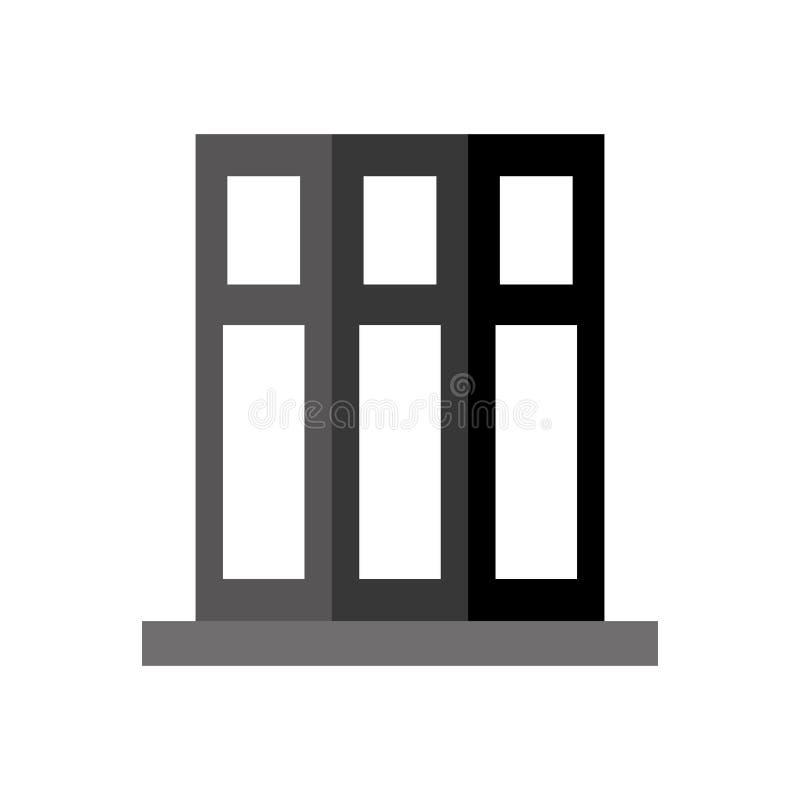 Conception monochromatique d'éléments de bureau de dossier de livre d'ensemble illustration libre de droits