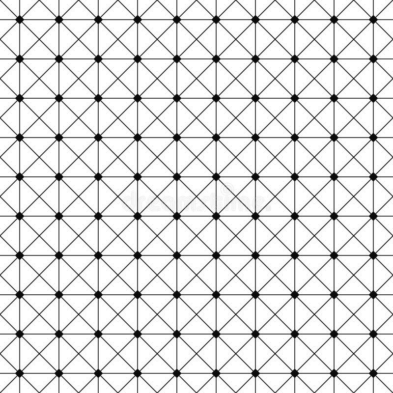 Conception monochrome sans couture de modèle de grille de fil illustration de vecteur