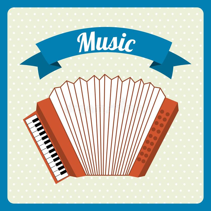 Conception musicale illustration stock