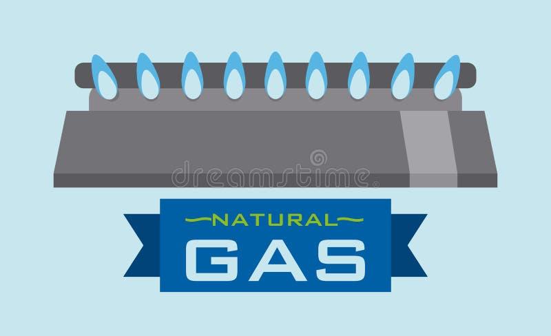 Conception naturelle de gaz illustration libre de droits