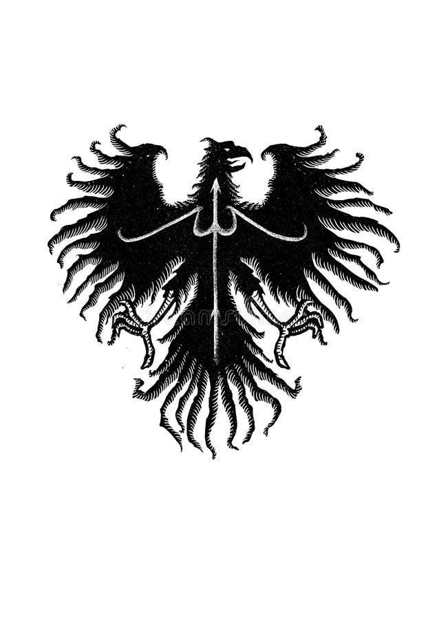 Conception noire Art Illustration d'aigle illustration de vecteur