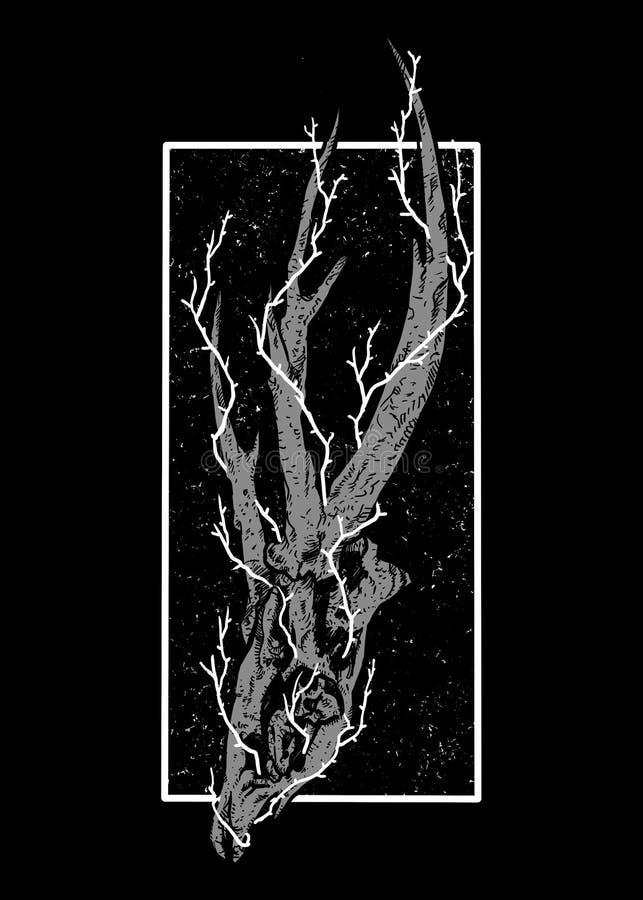 Conception noire Art Illustration de carcasse illustration libre de droits