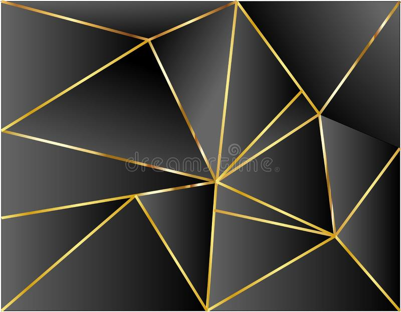 Conception noire d'illustration de vecteur d'or de dimension de fond moderne illustration stock