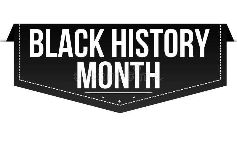 Conception noire de bannière de mois d'histoire illustration libre de droits