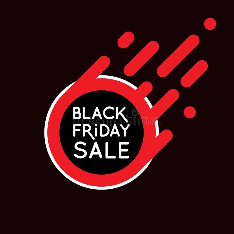 Conception noire de bannière de vente de vendredi illustration libre de droits