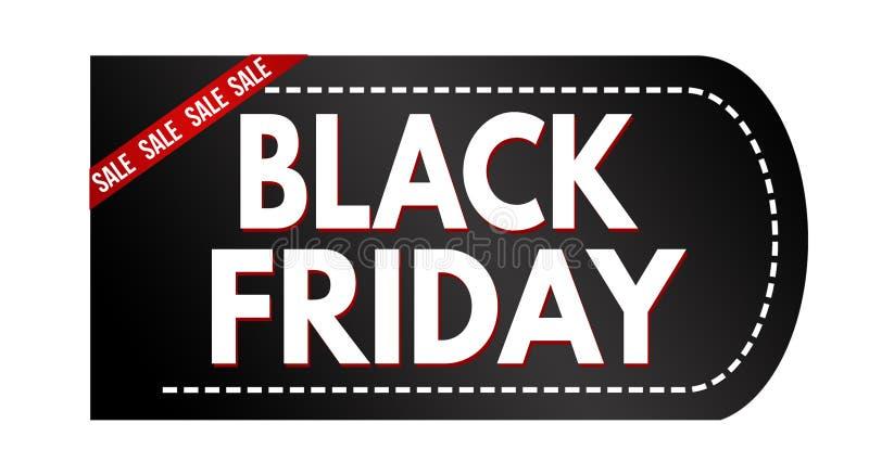 Conception noire de bannière de vente de vendredi illustration stock