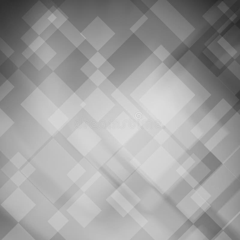 Conception noire et blanche de fond Disposition abstraite artistique avec les blocs géométriques de diamant illustration libre de droits