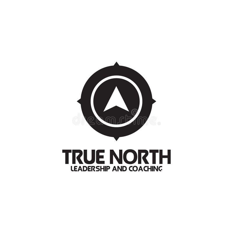 Conception noire et blanche simple de logo d'icône de boussole illustration libre de droits
