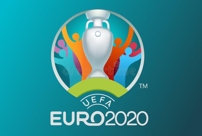 Conception officielle de logo de tasse du football illustration libre de droits