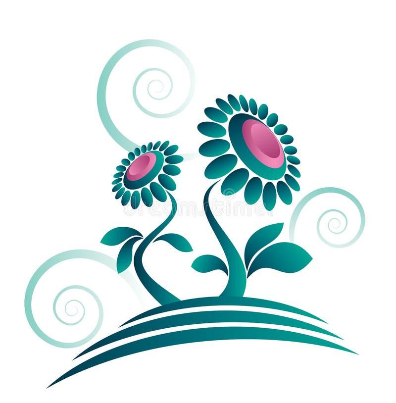 Conception organique abstraite de fleur illustration stock