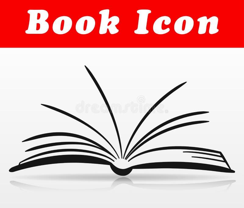 Conception ouverte d'icône de livre de vecteur illustration de vecteur