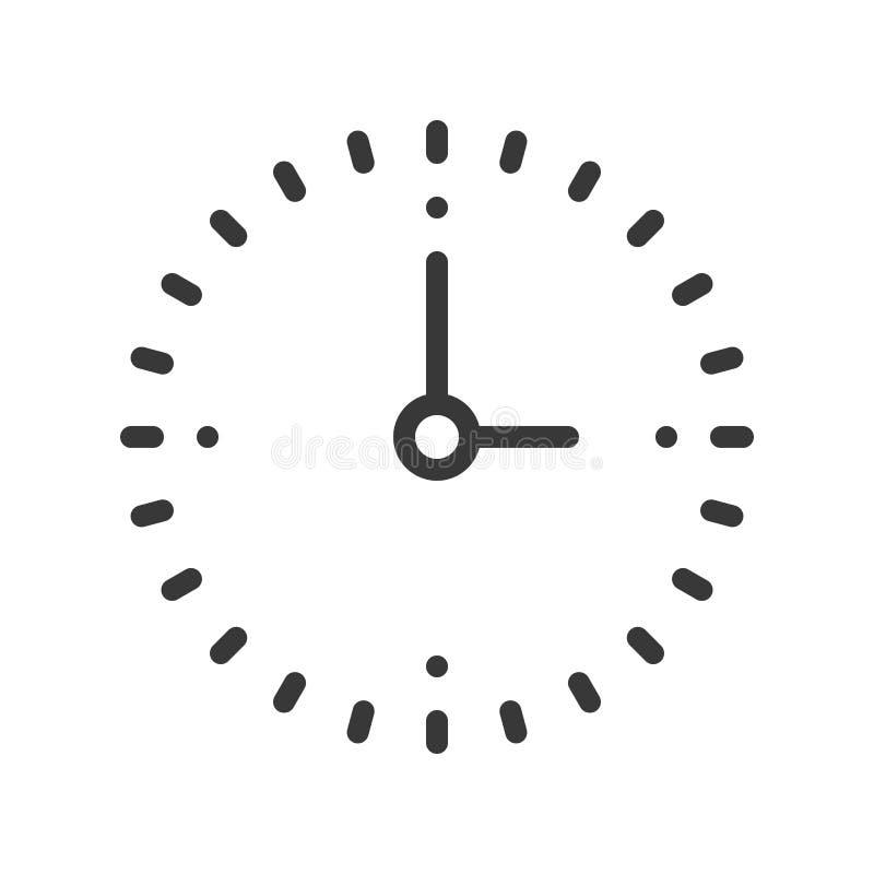 Conception parfaite d'horloge de pixel simple d'icône, course editable illustration libre de droits