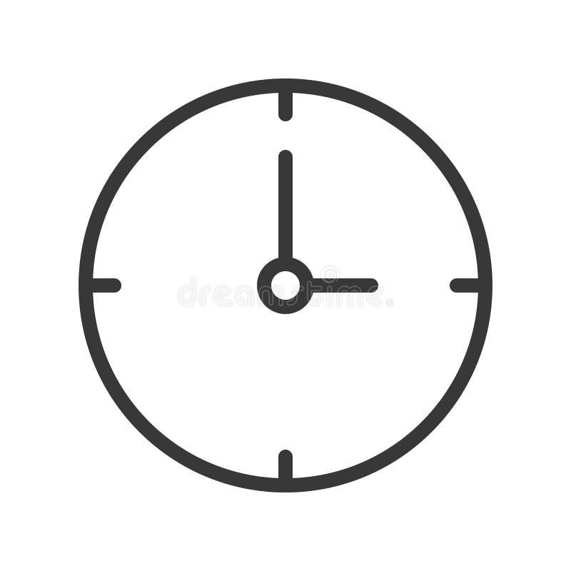 Conception parfaite d'horloge de pixel simple d'icône, course editable illustration stock