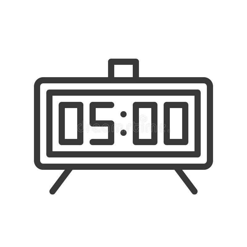 Conception parfaite de pixel d'icône de réveil, contour editable de course illustration stock